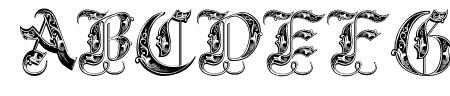 Royal Initialen Sample