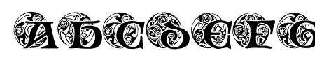 Spiral Initials Sample